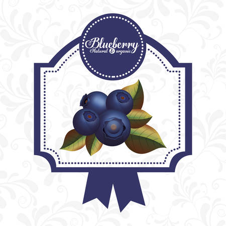 crop circles: delicious blueberry design Illustration