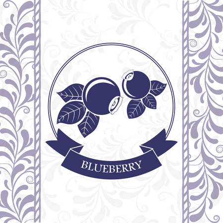 blueberry: delicious blueberry design Illustration