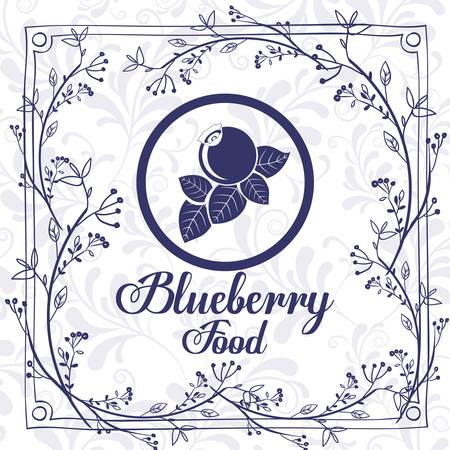 crop circle: delicious blueberry design Illustration