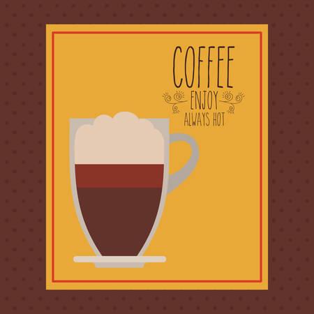 delicious: delicious coffee design Illustration