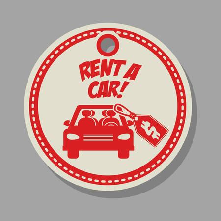 rent: rent a car design, vector illustration eps10 graphic Illustration