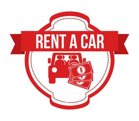 car bills: rent a car design, vector illustration eps10 graphic Illustration