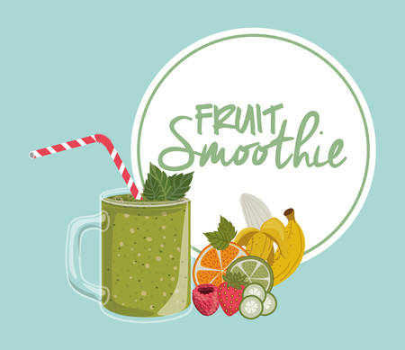 fruit smoothie: fruit smoothie design, vector illustration eps10 graphic