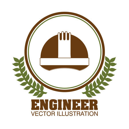 industrial safety: engineer concept  design, vector illustration eps10 graphic