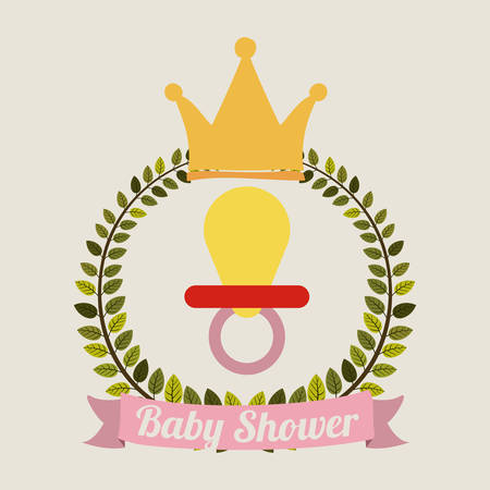 invite congratulate: baby shower design, vector illustration eps10 graphic Illustration