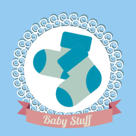 invite congratulate: baby shower design, vector illustration eps10 graphic Illustration
