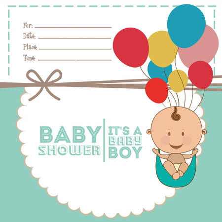 new baby: baby shower design, vector illustration eps10 graphic Illustration