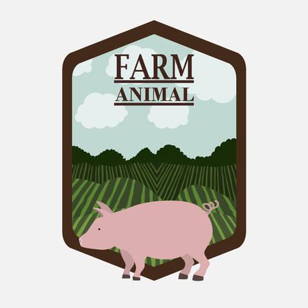 farm animal design, vector illustration eps10 graphic Vector Illustration