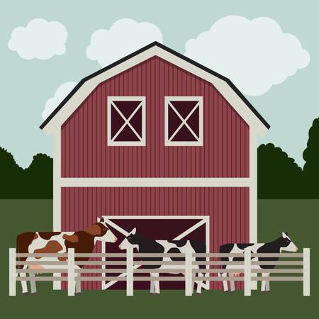 stables: farm animal design, vector illustration eps10 graphic Illustration