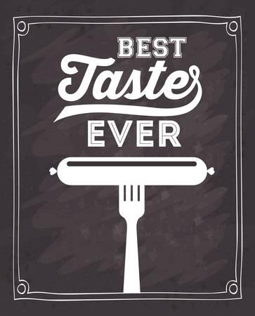 delicious: delicious sausage design, vector illustration eps10 graphic