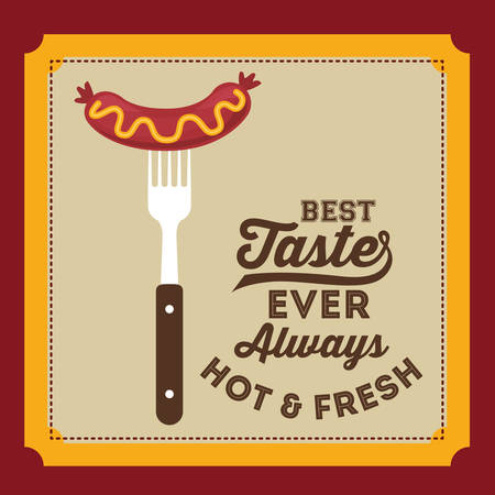 bratwurst: delicious sausage design, vector illustration eps10 graphic