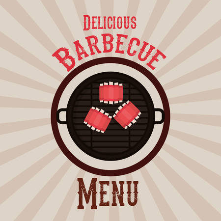 barbecue ribs: delicious barbecue design, vector illustration eps10 graphic