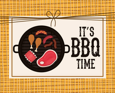 grill meat: delicious barbecue design, vector illustration eps10 graphic