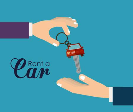 renting: rent a car design, vector illustration  graphic Illustration