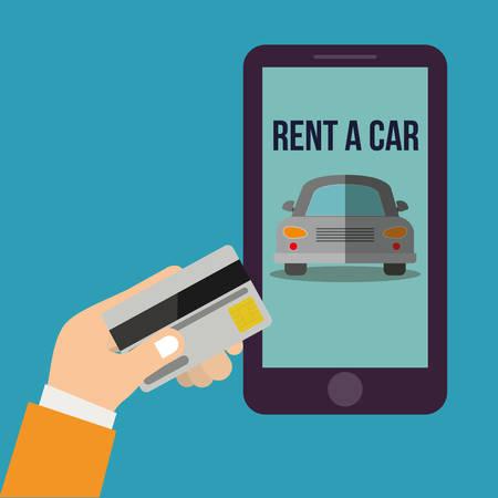 rent a car design, vector illustration  graphic Illusztráció