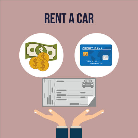 car bills: rent a car design, vector illustration eps10 graphic Illustration