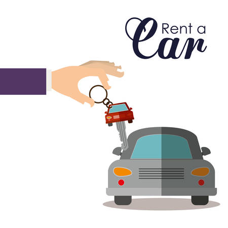 dealership: rent a car design, vector illustration  graphic Illustration