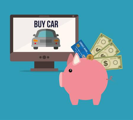car bills: car sale design, vector illustration graphic