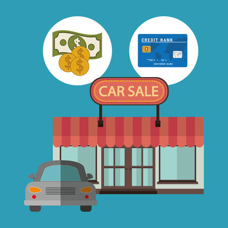 car bills: car sale design, vector illustration graphic