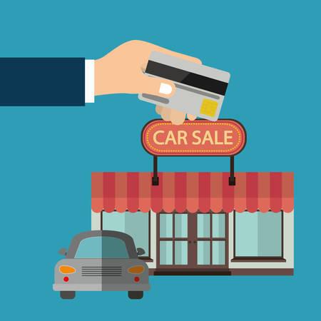 market place: car sale design, vector illustration  graphic Illustration