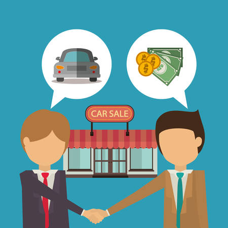 market place: car sale design, vector illustration graphic