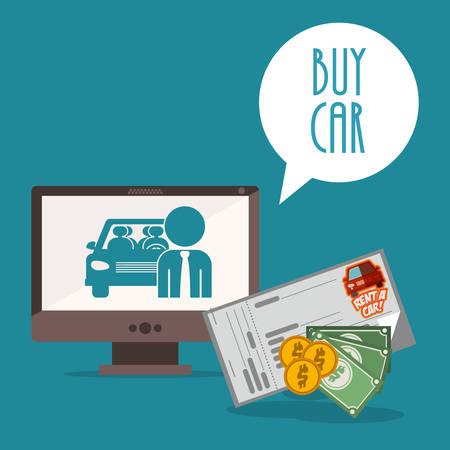 car bills: car sale design, vector illustration eps10 graphic