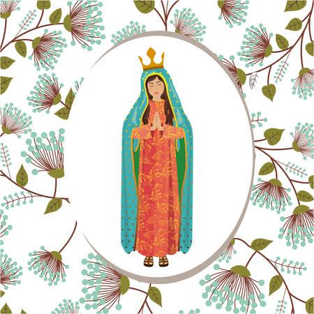 christian altar: st mary the virgin design, vector illustration eps10 graphic