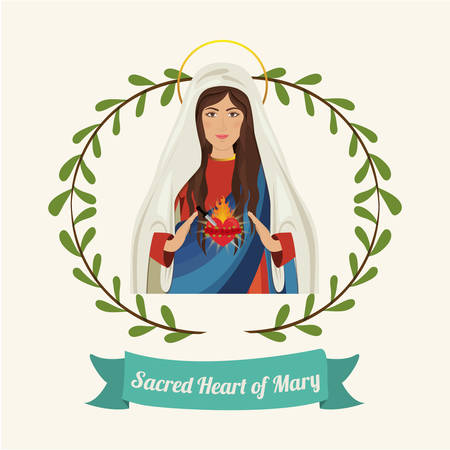 altar: st mary the virgin design, vector illustration eps10 graphic