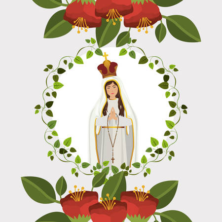 the altar: st mary the virgin design, vector illustration eps10 graphic
