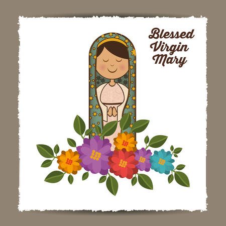 st mary the virgin design, vector illustration eps10 graphic