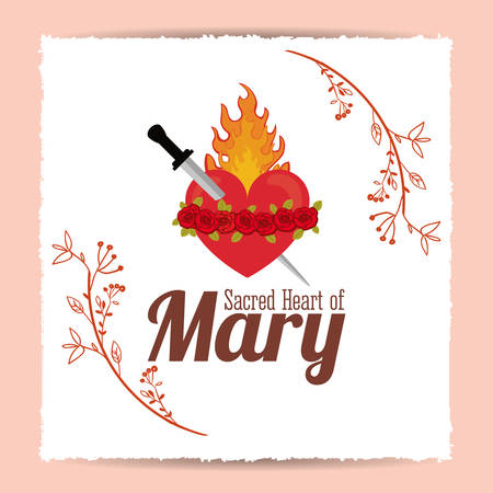 saint mary: st mary the virgin design, vector illustration eps10 graphic