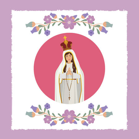 st mary the virgin design, vector illustration eps10 graphic Vector Illustration