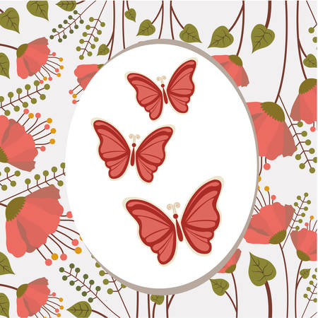 beuty: beautiful butterflies design, vector illustration eps10 graphic Illustration