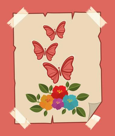 migrant: beautiful butterflies design, vector illustration eps10 graphic Illustration