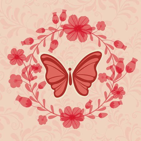 beuty of nature: beautiful butterflies design, vector illustration eps10 graphic Illustration
