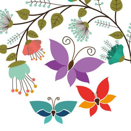 butterfly flower: beautiful butterflies design, vector illustration eps10 graphic Illustration
