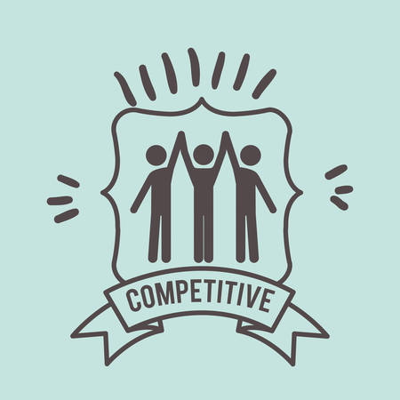 competitive: competitive spirit design, vector illustration eps10 graphic Illustration