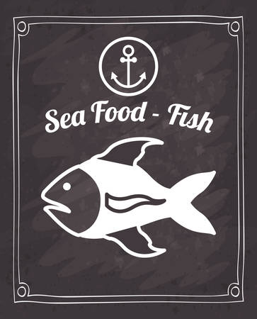 fish type: sea food fish design, vector illustration eps10 graphic