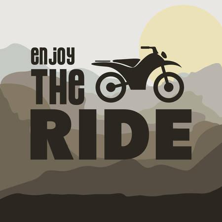 rider: motorcycle rider design Illustration