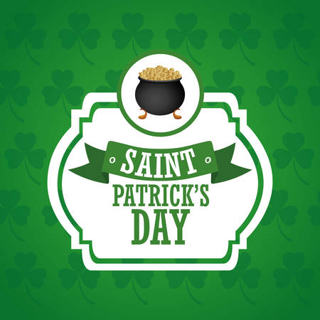 gold leafs: saint patricks day design, vector illustration eps10 graphic