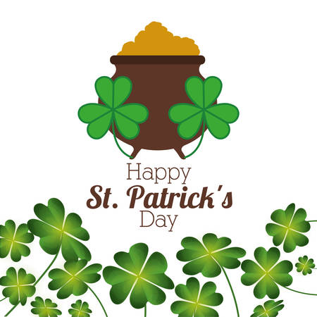 gold leafs: saint patricks day design, vector illustration eps10 graphic