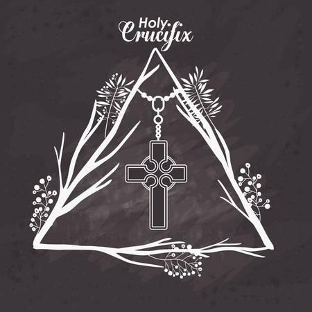kruzifix: heiligen Kruzifix Design, Vector Illustration eps10 Grafik