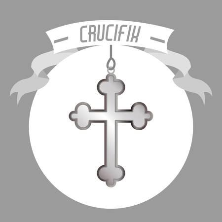 crucifix: holy crucifix  design, vector illustration eps10 graphic Illustration