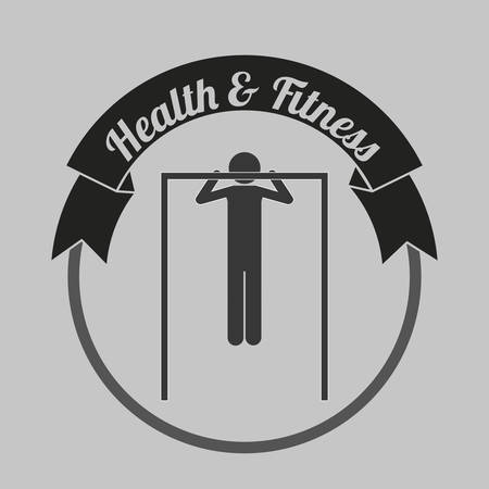 hang body: health and fitness design, vector illustration eps10 graphic