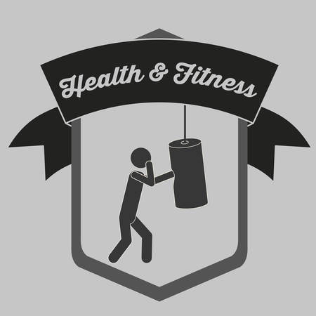 punched: health and fitness design, vector illustration eps10 graphic
