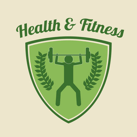 health and wellness: health and fitness design, vector illustration eps10 graphic