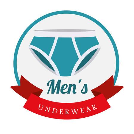 slip homme: les hommes de conception de sous-v�tements, illustration graphique eps10 Illustration