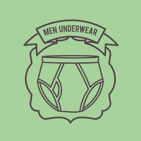 uomini disegno biancheria intima, illustrazione grafica vettoriale eps10