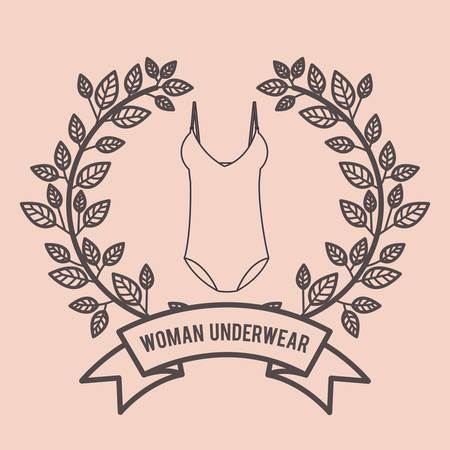 bodice: women underwear design, vector illustration eps10 graphic