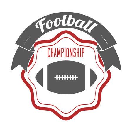 touchdown: football championship design, vector illustration eps10 graphic